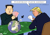 Cartoon: Games (small) by RachelGold tagged usa,north,korea,trump,kim,games,summit,poker,world,war,security,bomb