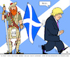 Cartoon: Scottish Independence (small) by RachelGold tagged uk,scotland,independence,referendum,boris,johnson,no