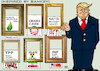 Cartoon: Street-Art-Vandal-Activist Trump (small) by RachelGold tagged trump,banksy,art,vandal,activist,shredding,contracts