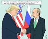 Cartoon: Helsinki Summit (small) by MarkusSzy tagged usa,russia,summit,helsinki,trump,putin,enemy,ally