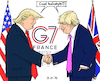 Cartoon: Trump meets Johnson at G7 (small) by MarkusSzy tagged g7,france,usa,uk,trump,johnson,hairstyle