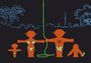 Cartoon: Tarzan mit Familie (small) by Thomas Bühler tagged tarzan ampelmännchen jungel