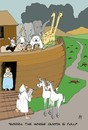 Cartoon: Unicorns (small) by aarbee tagged noah,ark,unicorn,horse