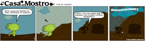 Cartoon: en el lago (medium) by mostro tagged vector,eagle,aguila,mostro,azteca,mexica,aztec,comic,strip,tira,comica,ajolote