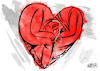 Cartoon: Broken Heart (small) by Nayer tagged love,sorrow