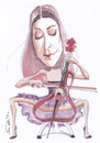Cartoon: Ana Rucner (small) by zed tagged ana rucner croatia musician violoncello