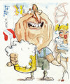 Cartoon: Helmut am oktoberfest (small) by zed tagged helmut kohl oktoberfest deutschland bier politician munich bavaria celebrations portrait caricature