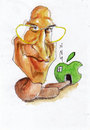 Cartoon: Steve Jobs (small) by zed tagged steve,jobs,usa,inventor,chairman,apple,business,portrait,caricature