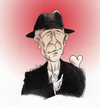 Cartoon: In memoriam.. R.I.P. Leonard (small) by firuzkutal tagged leonardcohen,cohen,canada,famousbluecoat,everybodyknows,firuzkutal,suzanne