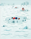 Cartoon: Never feel cold... (small) by firuzkutal tagged refugee,eu,crisis,youth,aylan,syria,esad,merkel,quota,sea,north,pole,dead