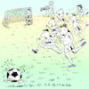 Cartoon: Running for a goal is important (small) by firuzkutal tagged football world cup russia germany italia brasil fair play soccer fan ball game holligan