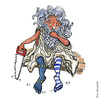 Cartoon: Greek Dilemma (small) by Frits Ahlefeldt tagged greece,vote,politics,referendum,eu,euro,greek