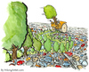 Cartoon: Tree going crazy (small) by Frits Ahlefeldt tagged cars,trees,nature,environment,green,climate,change,biodiversity,future,global,warming,fun,cartoon,humor,frits,powerpoint