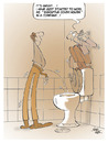 Cartoon: cover holder... (small) by yukselcan tagged career unemployment business job toilet closet loo cover