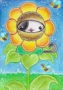 Cartoon: Kitty or Flower II (small) by Metalbride tagged katze