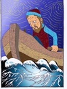 Cartoon: Der Mann und das Meer (small) by kader altunova tagged mann,meer