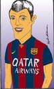Cartoon: suarez (small) by kader altunova tagged luis,suarez,barcelona,qatar,airways,fussball,uruguay