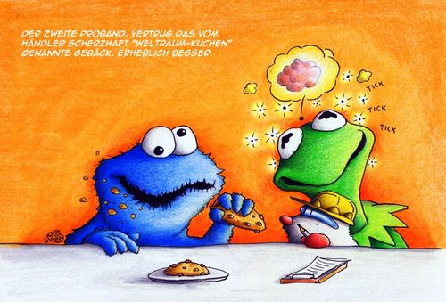 Cartoon: Maulwurf cakes (medium) by Jupp tagged kermit,cake,maulwurf,mole,spacecakes,jupp