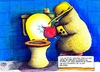 Cartoon: Maulwurf Facebook (small) by Jupp tagged maulwurf mole facebook toilette posten blind mobilephone shit friends handy locus scheisse freunde jupp bomm mobile phone 10 11 social network lüge lie gelogen schiss jeden media internet mist quatsch alles blitz klo täglich