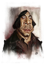 Cartoon: Javier Bardem (small) by slwalkes tagged stephenlorenzowalkes,javierbardem,nocountryforoldmen,caricature,actor,digitalpainiting