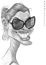 Cartoon: Anne Hathaway (small) by shar2001 tagged caricature,anne,hathaway,actress,usa