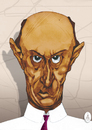 Cartoon: Arnold Schoenberg (small) by Mattia Massolini tagged composer