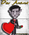 Cartoon: Dev Anand Caricature (small) by gursharanthecartoonist tagged dev,anand,romantic,hero