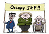 Cartoon: Occupy! (small) by Stuttmann tagged ratingagenturen,moodys,standard,poors,merkel,sarkozy,occupy