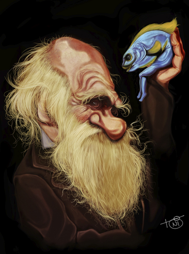 Cartoon: Charles Darwin (medium) by Toni DAgostinho tagged charles,darwin