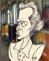 Cartoon: Typical day on the MTA (small) by subwaysurfer tagged trains,subway,transportation,new,york,caricature,cartoon,collage,people,humorous,art