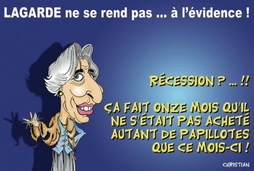 Cartoon: christine lagarde (medium) by CHRISTIAN tagged lagarde,recession