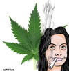 Cartoon: Cecile DUFLOT (small) by CHRISTIAN tagged cecile,duflot,hollande,cannabis,depenalisation