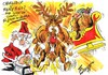 Cartoon: MERRY CHRISTMAS (small) by Tim Leatherbarrow tagged christmas,santa,claus,reindeer