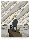 Cartoon: 200 Jahre nach Caspar David F (small) by FEICKE tagged caspar,david,friedrich,wanderer,kunst,gemälde,öl,hamburg,diesel,skandal,schweröl,elbsandstein,gebirge,wandern,umwelt,auto