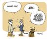 Cartoon: Beisst er (small) by FEICKE tagged hund,beissen,biss,kill,dog,dogge,leine