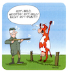 Cartoon: Rotwild (small) by FEICKE tagged jagd,jäger,rotwild,reh,kuh,rotbunt