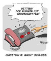 Cartoon: Rubikon (small) by FEICKE tagged bettina,wulff,christian,ex,bundespräsident,rubikon