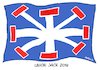 Cartoon: Union Jack 2019 (small) by FEICKE tagged union,jack,flagge,fahne,britannien,brexit,sackgasse
