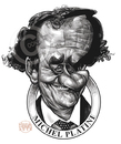 Cartoon: Michel Platini (small) by Russ Cook tagged michel,platini,france,french,foortball,soccer,star,celebrity,famous,art,illustration,drawing,caricature,cartoon,zeichnung,karikatur,karikaturen,russ,cook
