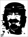 Cartoon: che king (small) by samir alramahi tagged che,king,arab,spring,ramahi,cartoon