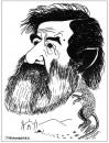 Cartoon: caricature of saddam (small) by jkaraparambil tagged saddam,hussain,iraq,war,kuwait,iran,2003,us,bush,caricature,jkarapmbil,jophy,jacob,joseph,karaparambil,edmonton,caricaturist,artist,alberta