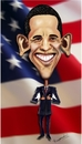 Cartoon: Obama (small) by jkaraparambil tagged obama,barak,us,president,democrat,election,2012,washinton,white,house,black