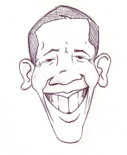 Cartoon: Barack Obama (medium) by lagunes tagged obama,usa,president