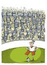 Cartoon: Unrest in football (small) by martirena tagged unrest,futbol,police,disturb