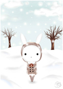 Cartoon: Under the snow (small) by Bluecy tagged snow,white,rabbit,schneehase,schnee,winter