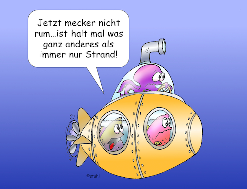 Cartoon: U-Boot (medium) by wista tagged unterseeboot,tauchboot,boot,tauchen,taucher,urlaub,fisch,fische,flora,fauna,meer,strand,hotel,tauchurlaub,kapitän,skipper,krake,tintenfisch,rif,korallen,karibik,rotes,familie,familienurlaub,touristen,tourist,tauchschule,barrier,reef,ausflug,ausflüge,see,baden,badeurlaub,aktiv,aktivurlaub