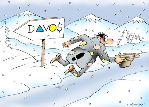 Cartoon: Davos (medium) by Dubovsky Alexander tagged policy,forum,business,investment,davos