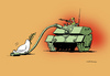 Cartoon: Dove of peace (small) by Dubovsky Alexander tagged dove,peace,war
