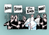 Cartoon: The end (small) by Dubovsky Alexander tagged the,end,protest,demonstration