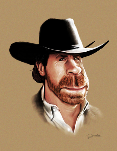 Cartoon: Chuck Norris (medium) by Guillamon tagged chuck,norris,caricature,television